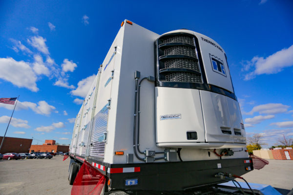 White Thermo King trailer