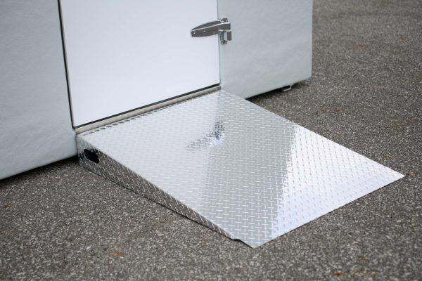 Polar King metal ramp on concrete