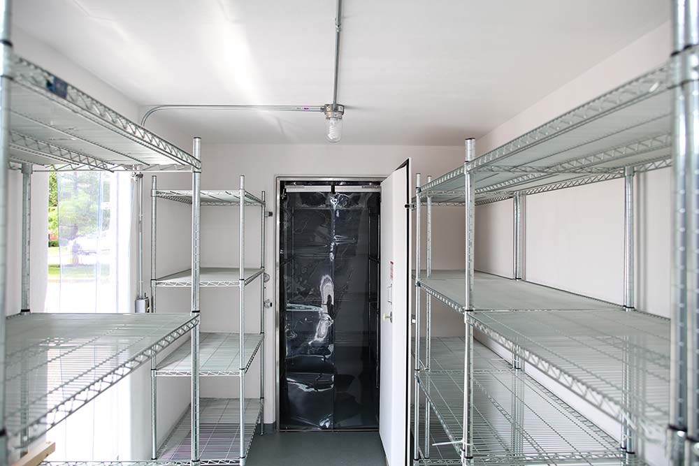 Inside of a Polar King industrial freezer