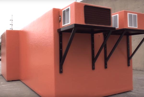 Walk-in cooler for sale in burnt orange like brick