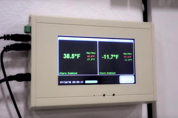 Thermometer in Polar King freezer unit