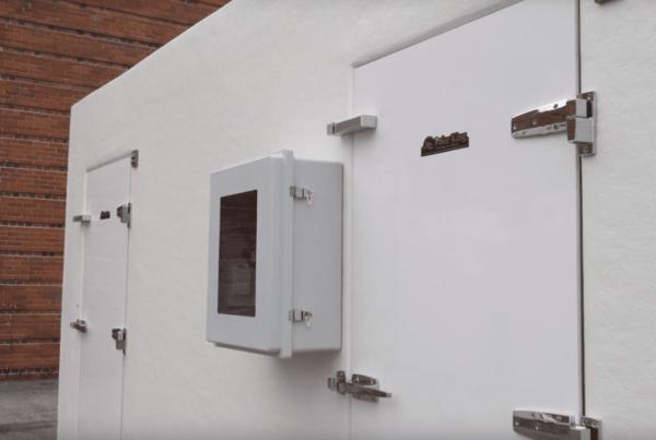 White exterior of Polar King freezer unit