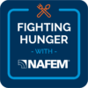 Blue and orange fighting hunger NAFAM badge