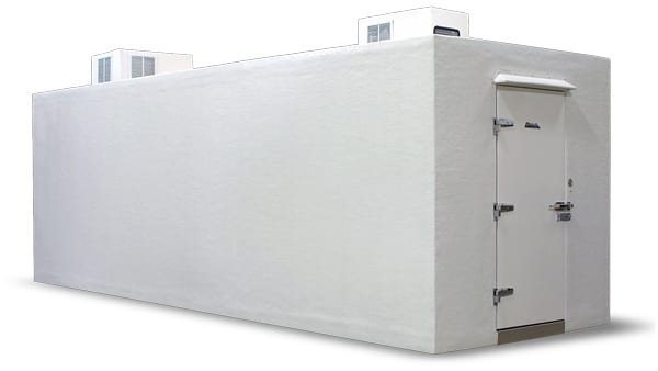 White combo walk-in cooler freezer box