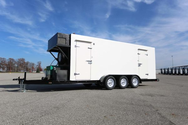 White Polar King freezer trailer unit outside