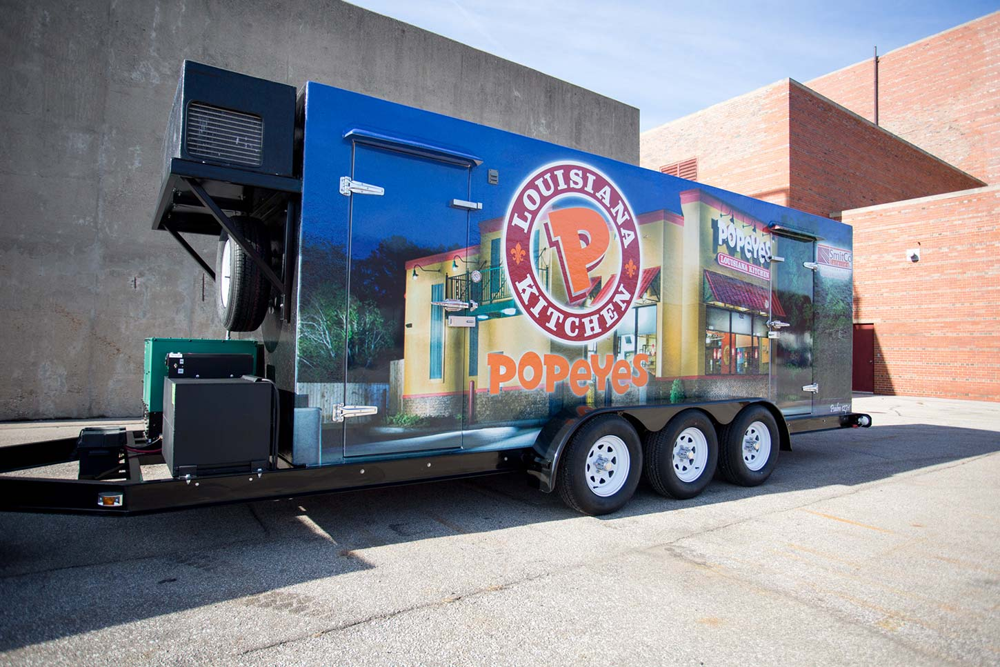 Popeyes industrial refrigerated trailer