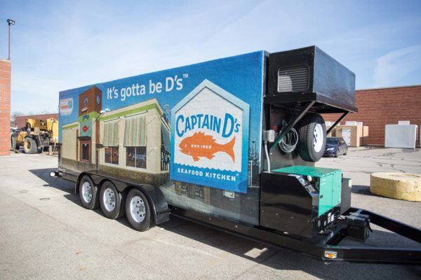 Small refrigerated trailer Captain D's
