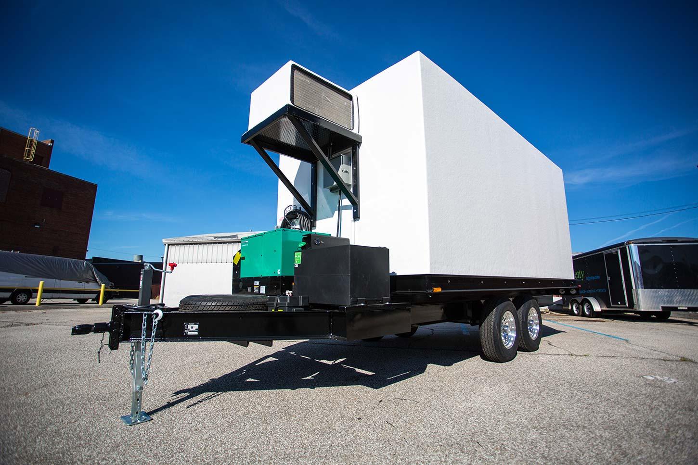 Mobile cold room trailer outside